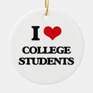 I love College Students Christmas Ornament