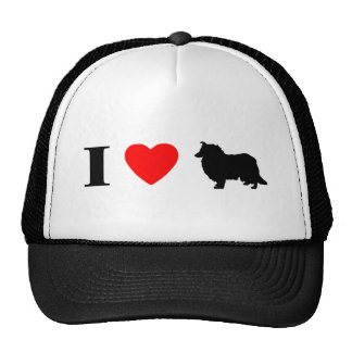 I Love Collies Hat