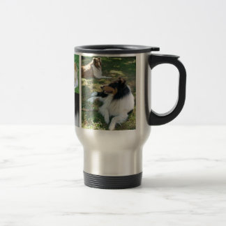I love collies travel mug w/pics x5