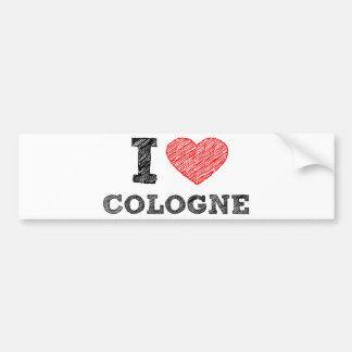 I Love Cologne Bumper Sticker