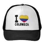I Love Colombia Hats