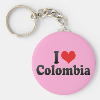 I Love Colombia Key Ring