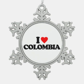 I LOVE COLOMBIA ORNAMENTS