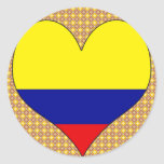 I Love Colombia Round Stickers