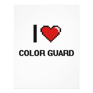 I Love Color Guard Digital Retro Design 21.5 Cm X 28 Cm Flyer
