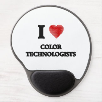 I love Color Technologists (Heart made from words) Gel Mouse Pad