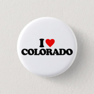 I LOVE COLORADO 3 CM ROUND BADGE