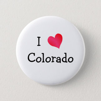I Love Colorado 6 Cm Round Badge