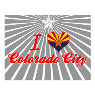 I Love Colorado City Arizona Post Card