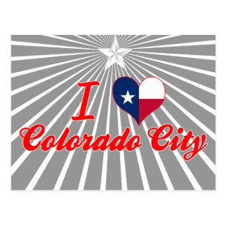 I Love Colorado City, Texas Postcards