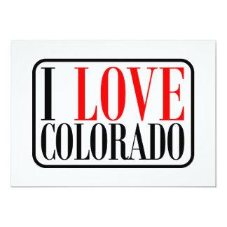 I Love Colorado Design 5x7 Paper Invitation Card