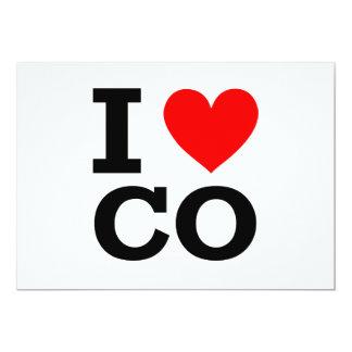 """I Love Colorado Design 5"""" X 7"""" Invitation Card"""