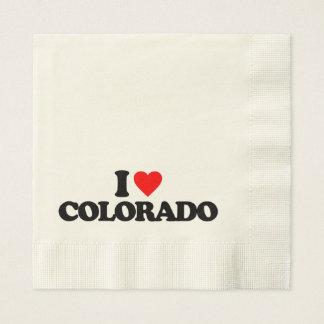 I LOVE COLORADO DISPOSABLE NAPKINS