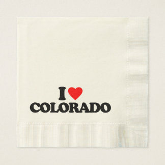 I LOVE COLORADO DISPOSABLE SERVIETTE
