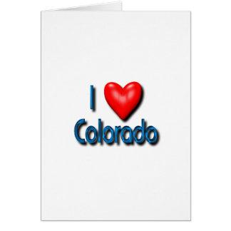 I Love Colorado Greeting Card