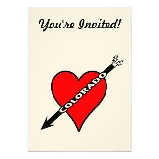I Love Colorado Heart 13 Cm X 18 Cm Invitation Card