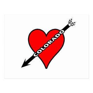 I Love Colorado Heart Postcard