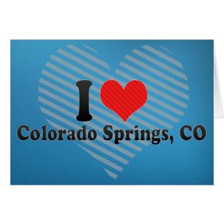I Love Colorado Springs, CO Greeting Card