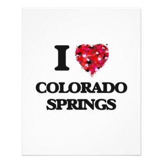I love Colorado Springs Colorado 11.5 Cm X 14 Cm Flyer