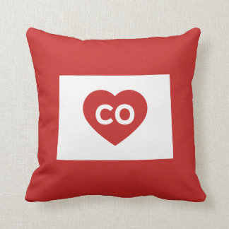 I Love Colorado State Throw Pillow