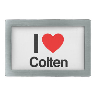 i love colten rectangular belt buckle