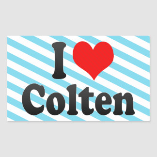I love Colten Rectangle Stickers