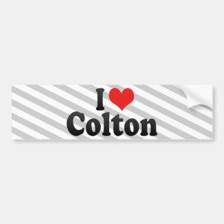 I Love Colton Bumper Sticker