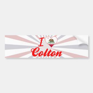 I Love Colton, California Car Bumper Sticker