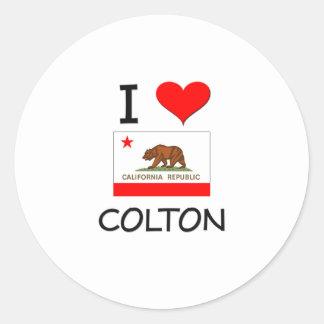 I Love COLTON California Round Sticker