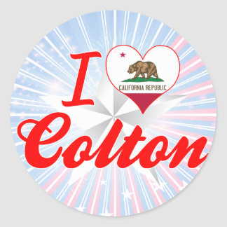 I Love Colton California Round Sticker