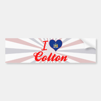 I Love Colton, New York Car Bumper Sticker