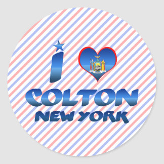 I love Colton, New York Round Stickers