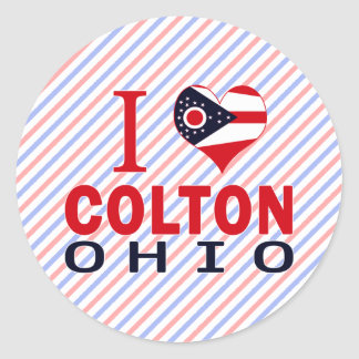 I love Colton Ohio Round Stickers