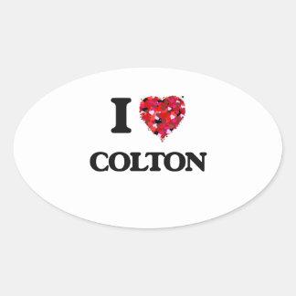 I Love Colton Oval Sticker