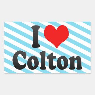I love Colton Rectangular Sticker