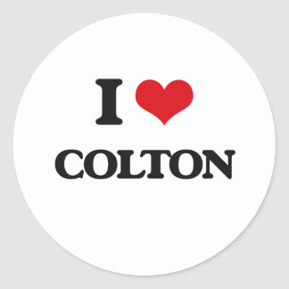 I Love Colton Round Sticker