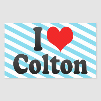 I love Colton Rectangle Sticker