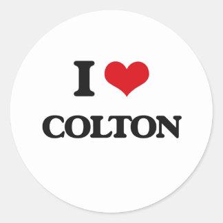 I Love Colton Classic Round Sticker