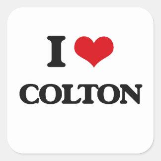 I Love Colton Square Sticker