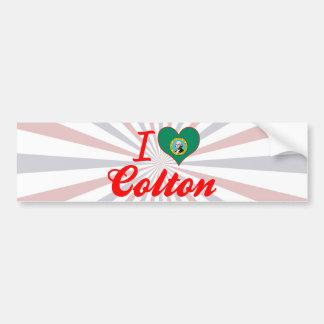 I Love Colton, Washington Car Bumper Sticker