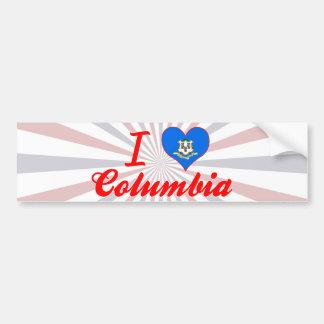 I Love Columbia, Connecticut Bumper Stickers