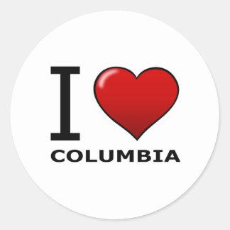 I LOVE COLUMBIA, OH - OHIO CLASSIC ROUND STICKER