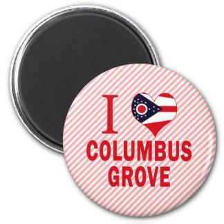 I love Columbus Grove, Ohio Refrigerator Magnet