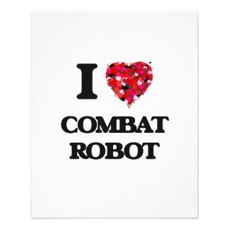 I Love Combat Robot 11.5 Cm X 14 Cm Flyer
