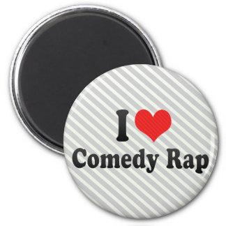 I Love Comedy Rap Fridge Magnets