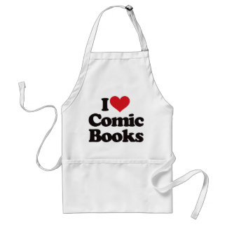 I Love Comic Books Standard Apron