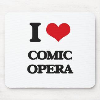 I Love COMIC OPERA Mouse Pad