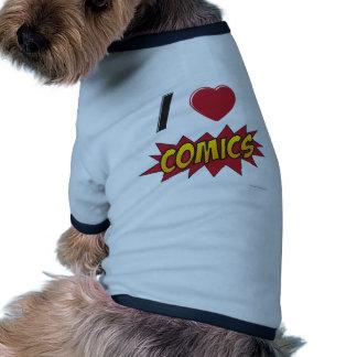 I love comics! dog t-shirt