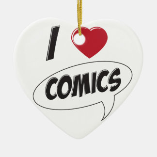I Love Comics! *Heart* Christmas Ornament