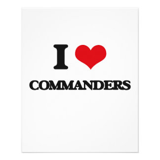 I love Commanders 11.5 Cm X 14 Cm Flyer
